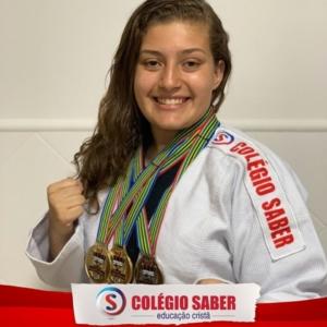 Aluna Katherine Lara no Campeonato Mundial de Morganti Ju-Jitsu - África do Sul